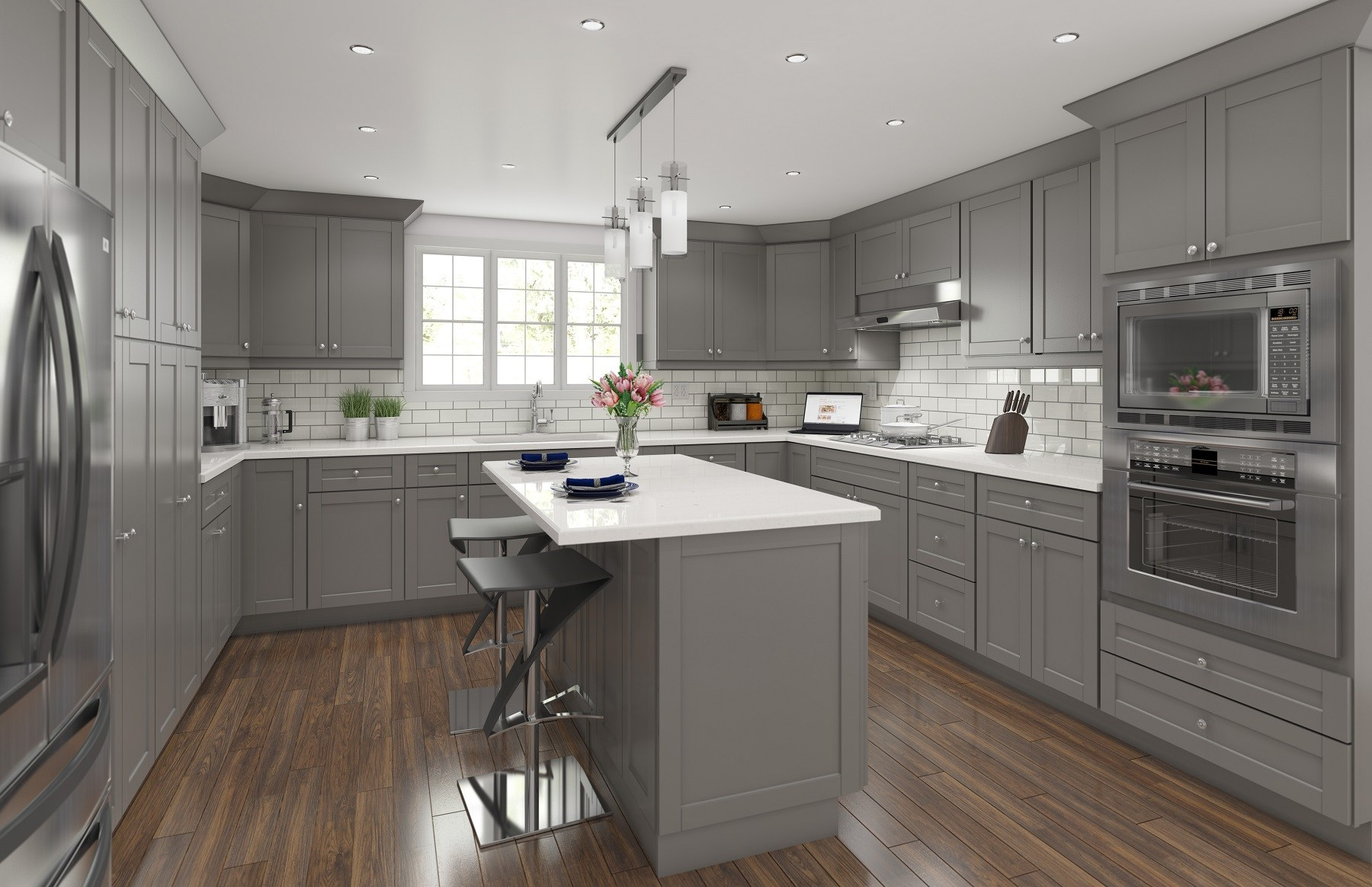 Contemporary Kitchen Cabinets - AMF Cabinets
